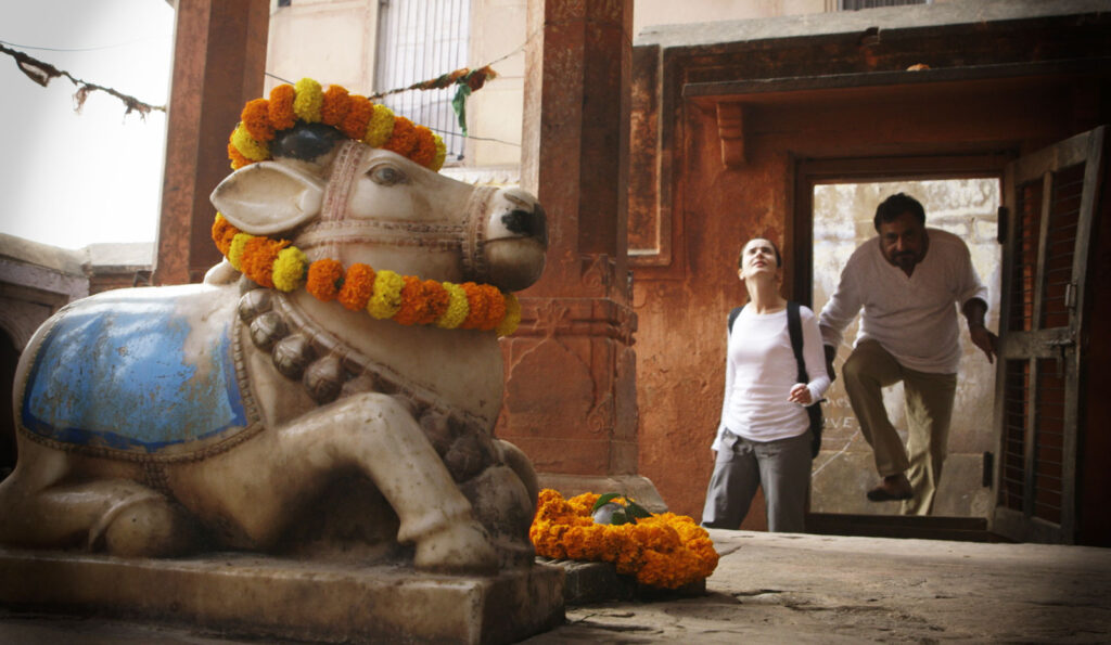 Scene Greg was able to produce in Varanasi, India in a Hindu temple